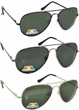 Set of 3 Men Polarized Sunglasses Aviator Spring hinge Metal