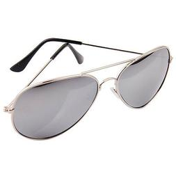 Silver Aviator Pilot Style Metal Sunglasses Frame Shades UV4