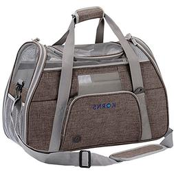 KQRNS Soft Sided Dog Carrier Cat Travel Carrier Puppy Carrie