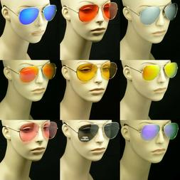 Sunglasses aviator men women lens frame color retro vintage