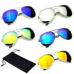 sunglasses aviator mirror lens new men women