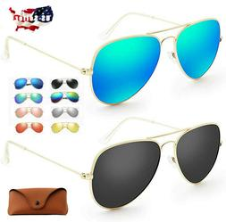 Tac Polarized Aviator Sunglasses for Women Men Pilot Sports