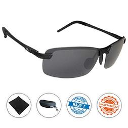 ultra lightweight rimless sunglasses