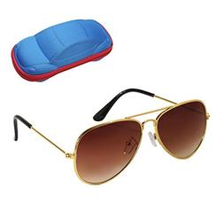 WODISON UV Protection Kids Aviator Sunglasses with Case Chil