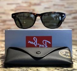 Ray-Ban NEW WAYFARER - TORTOISE Frame CRYSTAL GREEN Lenses 5
