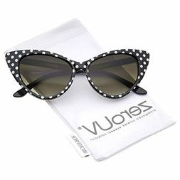 zeroUV - Women's Retro Oversized High Point Cat Eye Sunglass