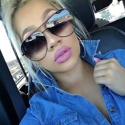 XL Aviator OVERSIZED Women Sunglasses Aviator Flat Top Squar
